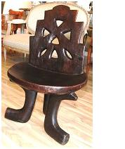 Ethiopian Iroku Wood Chair